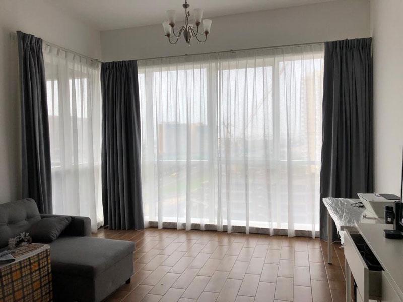 Curtain installation in Dubai